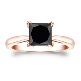 Princess Cut Black Diamond Rings