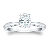 Oval Diamond Solitaire Rings