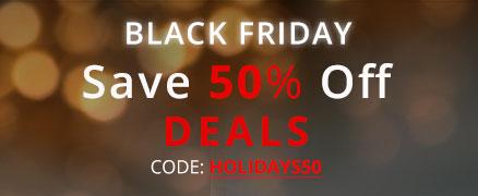 Black friday sale + save 50% Off