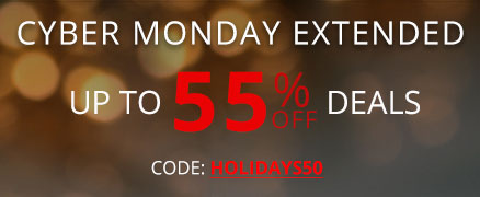 Cyber Monday sale + save 50% Off