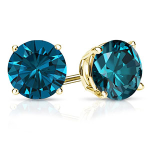 Color Diamond Studs