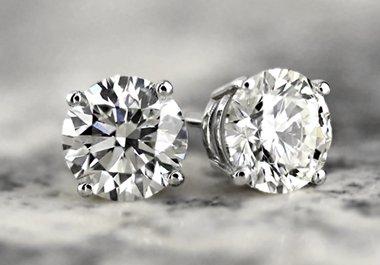 MEN'S DIAMOND STUD EARRINGS
