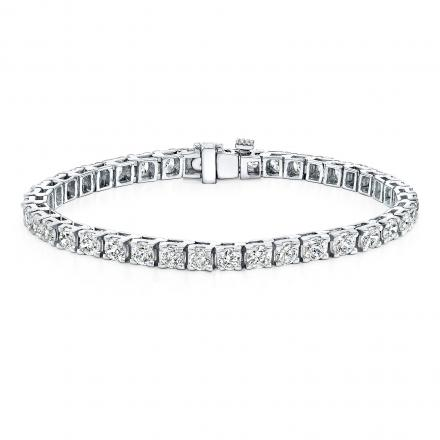 Classic 4-Prong Round Diamond Tennis Bracelet in 14K White Gold 10.00 ct. tw. (H-I, VS1-VS2)