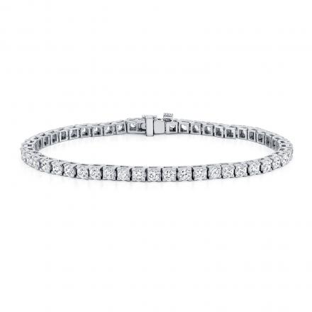Classic 4-Prong Round Diamond Tennis Bracelet in 14K White Gold 5.00 ct. tw. (H-I, VS1-VS2)