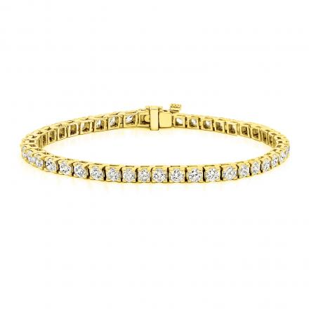 Classic 4-Prong Round Diamond Tennis Bracelet in 14K Yellow Gold 7.00 ct. tw. (H-I, SI1-SI2)