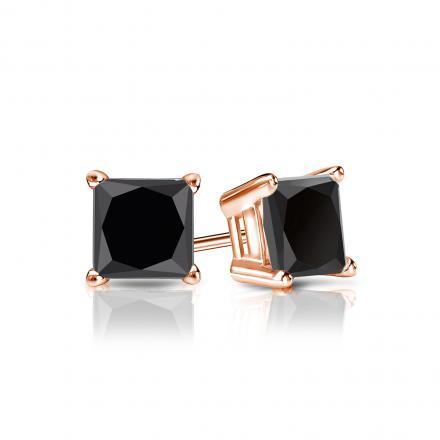 Black beauty Gold-black stud earrings