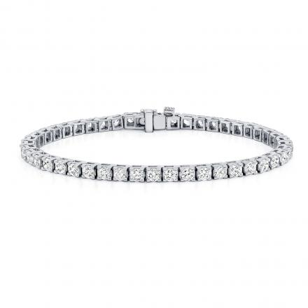 Diamond Tennis Bracelet 6.00 ct. tw. (I-J, I2-I3) in 14K White Gold, 7.50 inch