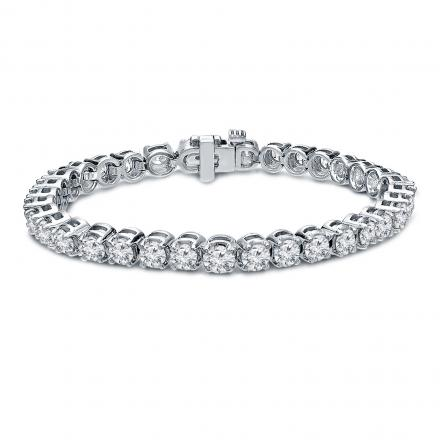 Lab Grown Diamond Tennis Bracelet 10.00 ct. tw. (E-F, VS1-VS2) in 14K White Gold, 7.25 inch