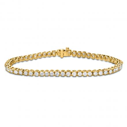 Lab Grown Diamond Tennis Bracelet 1.00 ct. tw. (E-F, VS1-VS2) in 10K Yellow Gold, 7.25 inch