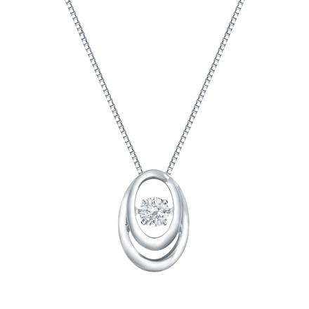 Double 'O' Dancing Stone Diamond Pendant