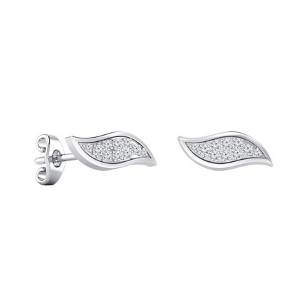 Certified 14k White Gold Round-cut Diamond Stud Earrings 0.15 ct. tw.