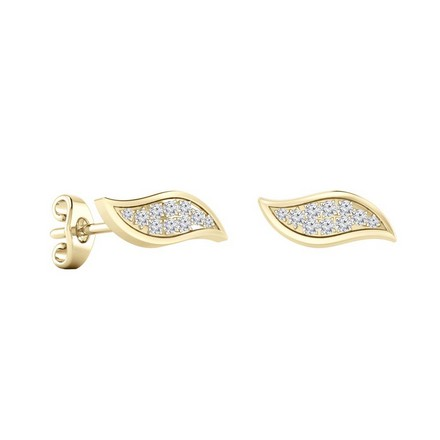 Certified 14k Yellow Gold Round-cut Diamond Stud Earrings 0.15 ct. tw.