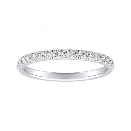 Lab Grown Diamond Ring   0.40 ct. tw. (E-F, VS1-VS2) in 14K White Gold Pave