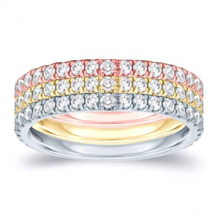 Stackable Diamond Ring Set in 14k Gold 0.75 ct. tw. (G-H, SI1-SI2)