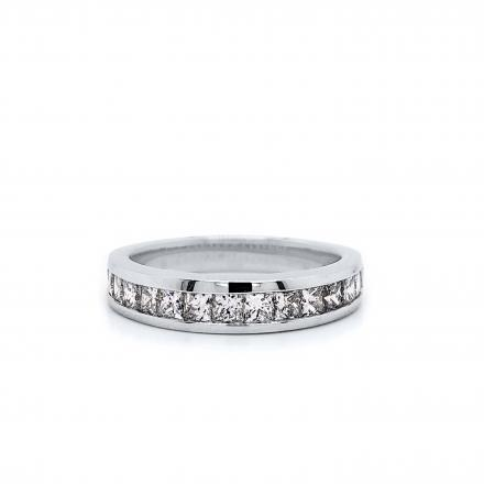 Princess Channel Set Diamond Ring in 14k White Gold 0.75 ct. tw. (H-I, VS1-VS2)
