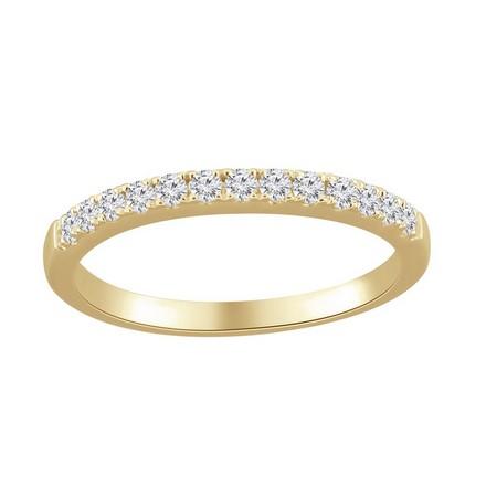 Certified 14k Yellow Gold Classic Diamond Wedding Ring 0.26 cttw