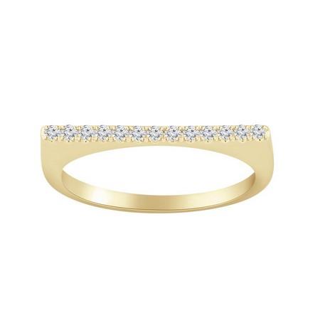 Certified 14k Yellow Gold Diamond Wedding Ring 0.13 cttw
