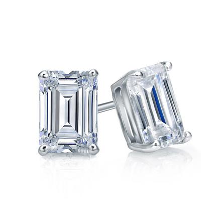 14K Yellow Gold Emerald and Diamond Earrings