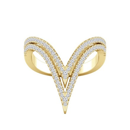 Certified 14k Yellow Gold Stackable Diamond Ring 0.50 cttw