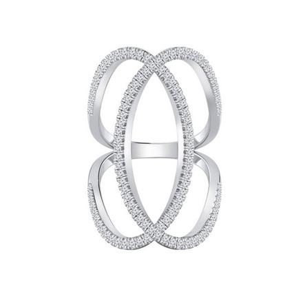 Certified 14k White Gold Diamond Ring 0.75 cttw