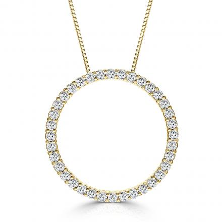 Lab Grown Diamond Circle of Life Pendant 1.00 ct. tw. (E-F, VS) in 14K Yellow Gold