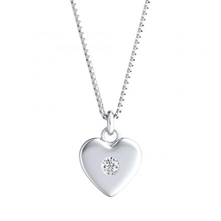 Heart Diamond Pendant 0.03 ct. tw. (H-I, I1-I2) in 14K White Gold