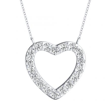 Diamond Heart Pendant 0.25 ct. tw. (H-I, I1-I2) in 14K White Gold