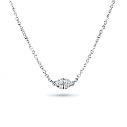 Diamond Solitaire Pendant Marquise 0.50 ct. tw. (G-H, I1-I2) in 14K White Gold