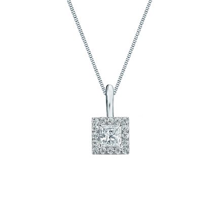 Platinum Certified Princess-Cut Diamond Halo Pendant 0.25 ct. tw. (I-J, I1-I2)