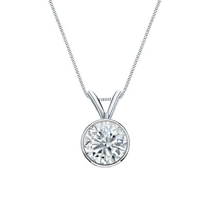 Platinum Bezel Certified Round-Cut Diamond Solitaire Pendant 0.75 ct. tw. (I-J, I1-I2)