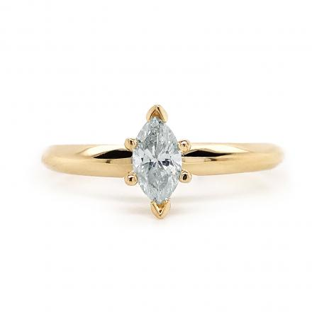 Diamond Solitaire Ring Marquise 0.50 tw. (G-H, I1-I2) in 14k Yellow Gold