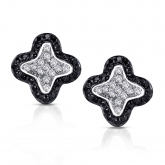 14k White Gold Pave-Set Black & White Diamond Earring 0.25 ct. tw. (G-H, I1-I2)