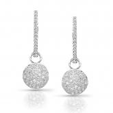 14k White Gold Round Cut Diamond Dangling Earring 0.75 ct. tw. (I-J, I1-I2)