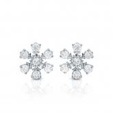 10k White Gold Snowflakes Round-Cut Diamond Earrings 0.10 ct. tw. (I-J, I1-I2)