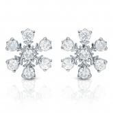 10k White Gold Snowflakes Round-Cut Diamond Earrings 0.33 ct. tw. (I-J, I1-I2)