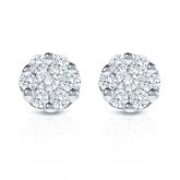 14k White Gold Prong-Set Cluster Round Diamond Earring 0.25 ct. tw. (H-I, SI1-SI2)