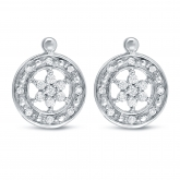 14k White Gold Round Cut Diamond Round Shaped Stud Earrings 0.25 ct. tw. (H-I, SI1-SI2)