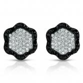 14k White Gold Pave-Set Black & White Diamonds 0.50 ct. tw. (H-I, SI1-SI2)