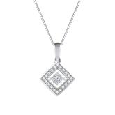 Royal Princess-Cut Dancing Stone Diamond Pendant