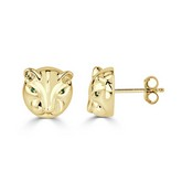 Certified 14k Yellow Gold Round-cut Ruby Gemstone Hoop Earrings 0.18 ct. tw.