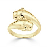 Certified 14k Yellow Gold Animal Fashion Emerald Ring