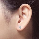 Certified 14k White Gold 4-Prong Basket Oval Diamond Stud Earrings 0.75 ct. tw. (E-F, VS1-VS2)
