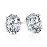 Lab Grown Diamond Studs Earrings Oval 1.50 ct. tw. (G-H, VS1-VS2) in 14k White Gold 4-Prong Basket