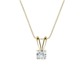 18k Yellow Gold 4-Prong Basket Certified Asscher-Cut Diamond Solitaire Pendant 0.25 ct. tw. (I-J, I1-I2)