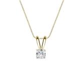 14k Yellow Gold 4-Prong Basket Certified Asscher-Cut Diamond Solitaire Pendant 0.25 ct. tw. (I-J, I1-I2)