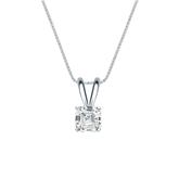 18k White Gold 4-Prong Basket Certified Asscher-Cut Diamond Solitaire Pendant 0.50 ct. tw. (I-J, I1-I2)