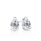 Lab Grown Diamond Studs Earrings Pear 0.50 ct. tw. (E-F, VS1-VS2) in 18k White Gold V-End Prong