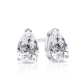 Certified 14k White Gold V-End Prong Pear Shape Diamond Stud Earrings 0.75 ct. tw. (G-H, SI1)