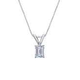 18k White Gold 4-Prong Basket Certified Emerald-Cut Diamond Solitaire Pendant 0.38 ct. tw. (I-J, I1-I2)