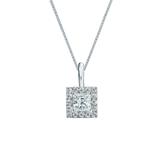 Platinum Certified Princess-Cut Diamond Halo Pendant 0.38 ct. tw. (I-J, I1-I2)